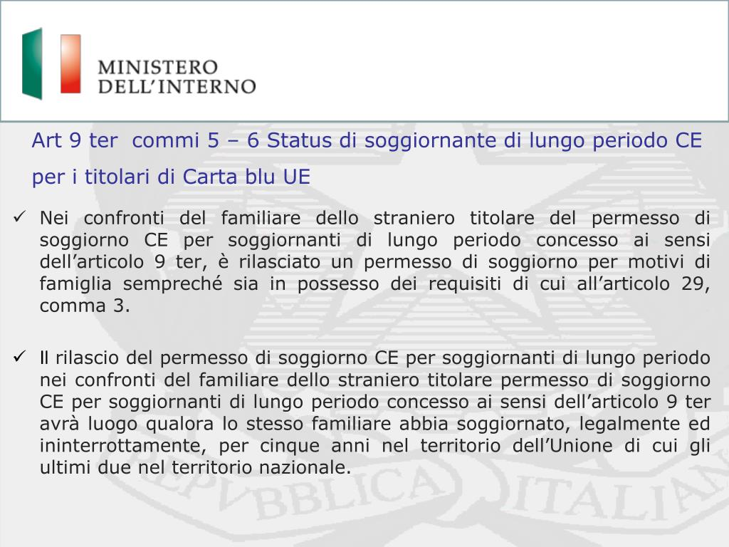 PPT - Ingresso in Italia Lavoratori extracomunitari ...