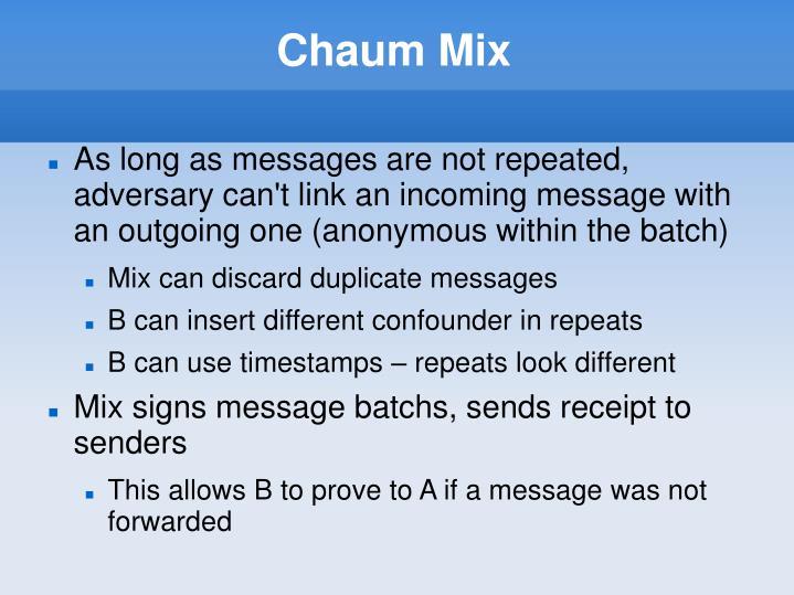 Chaum Mix