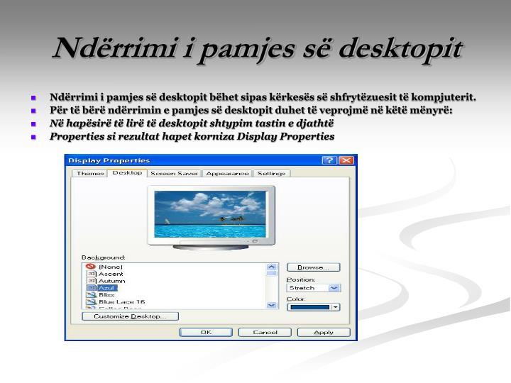 Ndërrimi i pamjes së desktopit