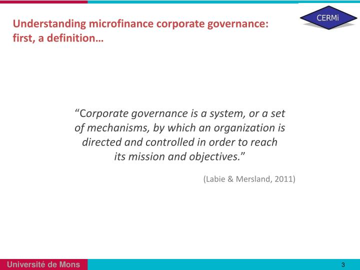 understanding corporate governance What is corporate governance corporate governance is the set of procedures, customs, laws, policies and institutions which affect the way a corporation is directed, controlled or formally.