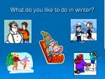what do you like to do in winter