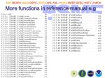 more functions in reference manual e g