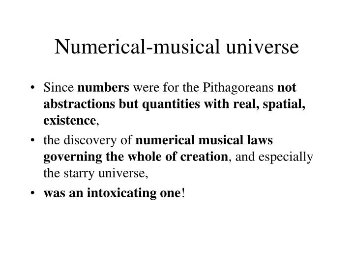 Numerical-musical universe