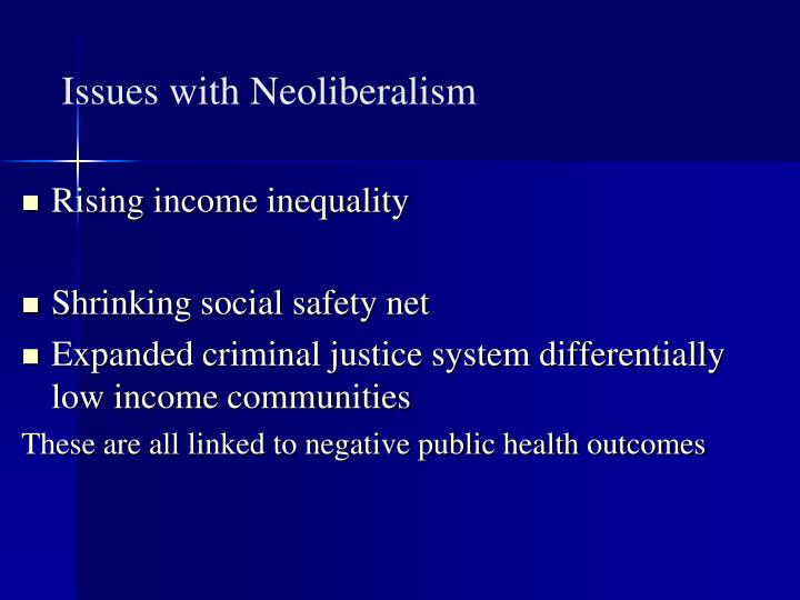 Issues with Neoliberalism