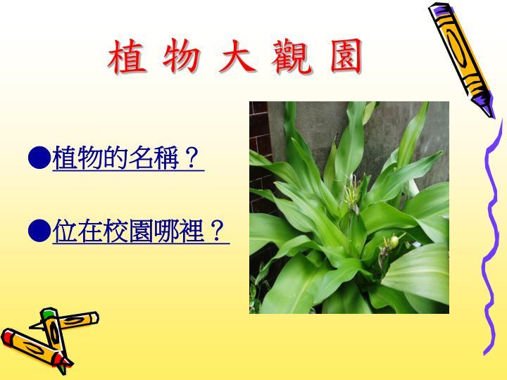 植 物 大 觀 園