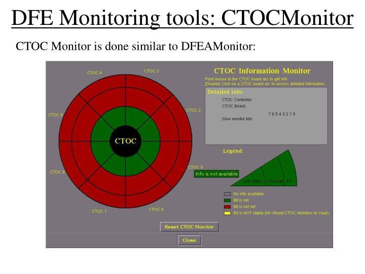 DFE Monitoring tools: CTOCMonitor