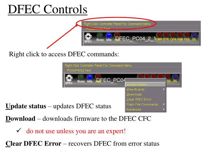 DFEC Controls