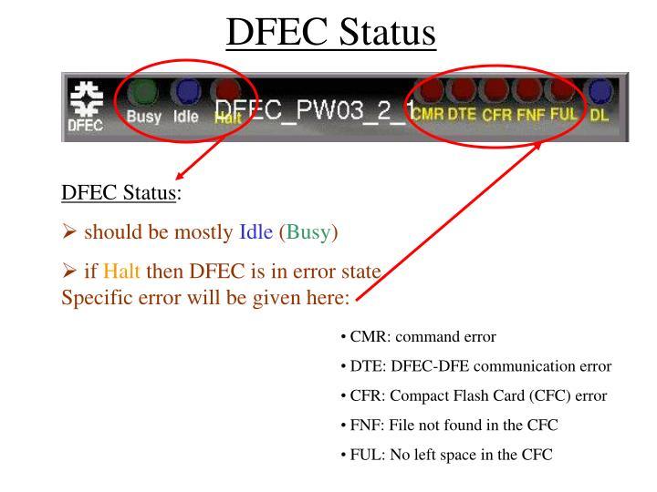 DFEC Status