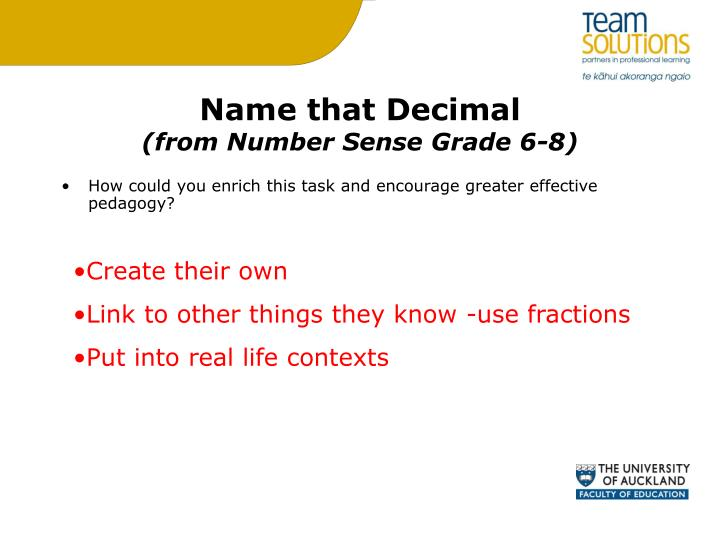 Name that Decimal