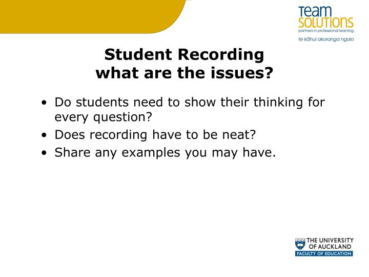 Student Recording