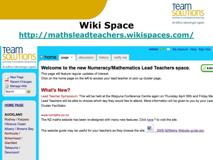 Wiki Space