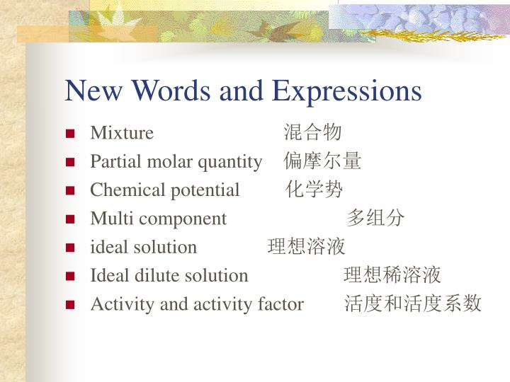 New words and expressions1