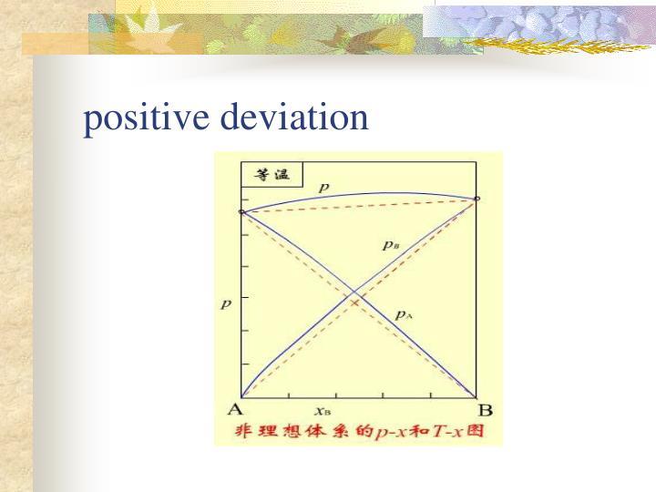 positive deviation