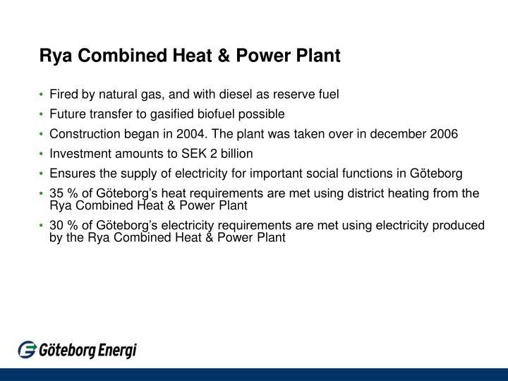 Rya Combined Heat & Power Plant
