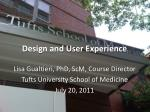 design and user experience