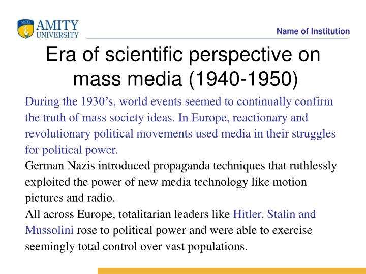 During the 1930's, world events seemed to continually confirm