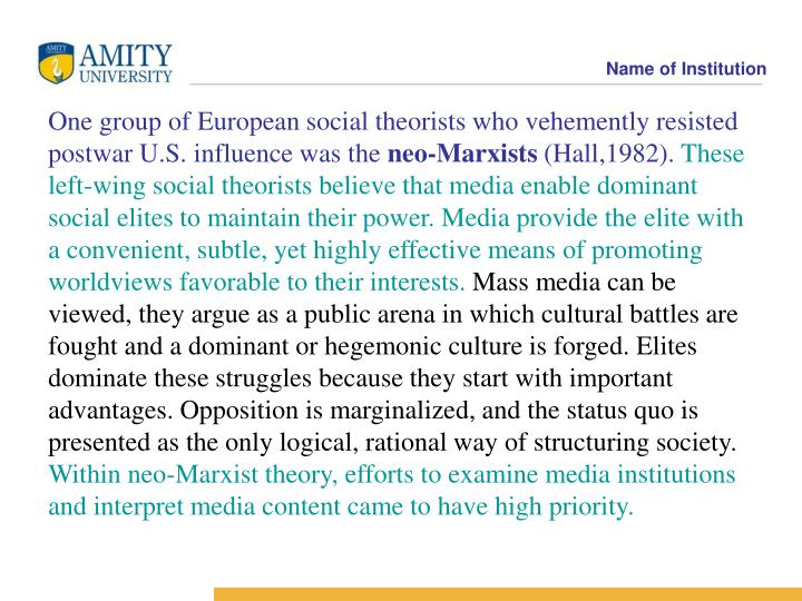 One group of European social theorists who vehemently resisted postwar U.S. influence was the
