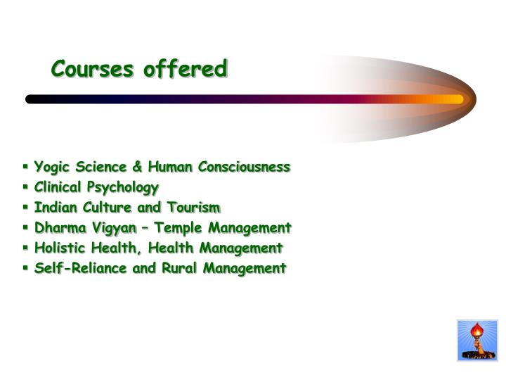 Courses offered