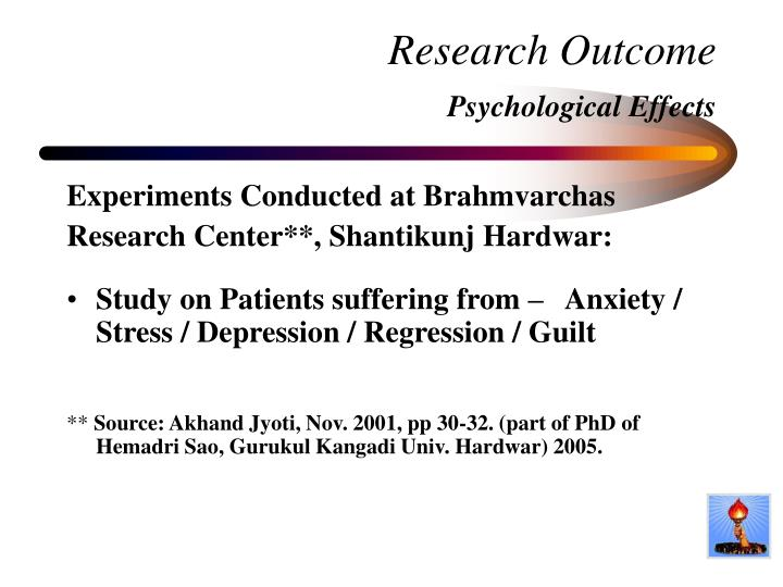 Research Outcome