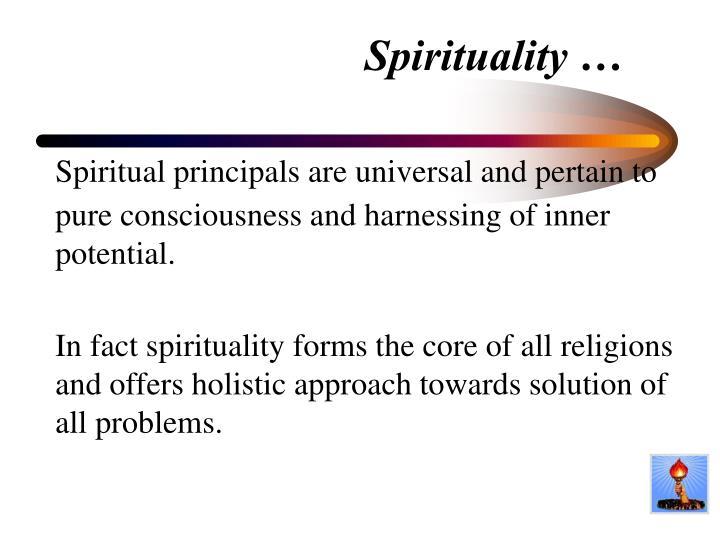 Spirituality …