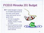 fy2010 minooka 201 budget