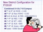 new district configuration for fy2010