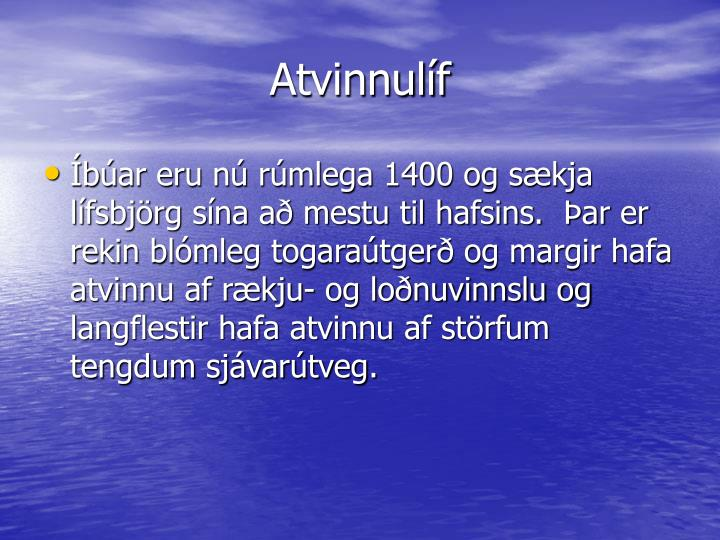 Atvinnulíf