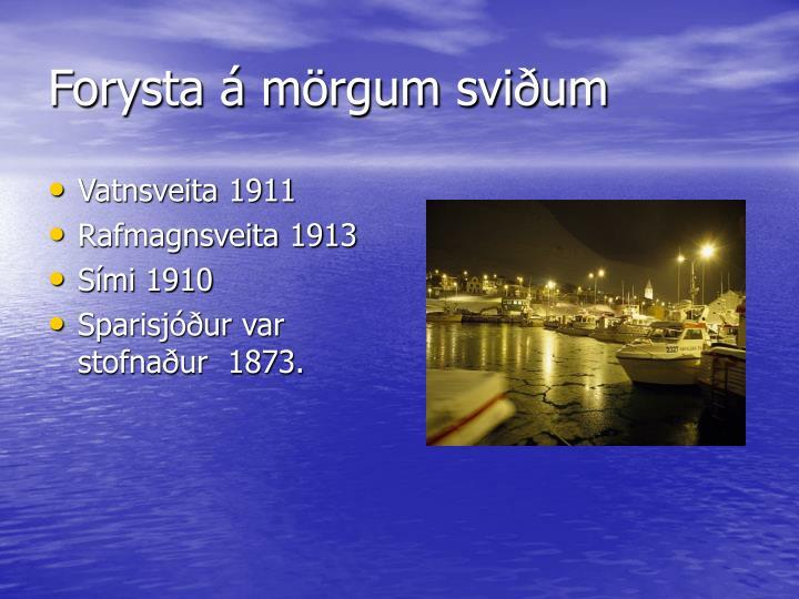 Vatnsveita 1911