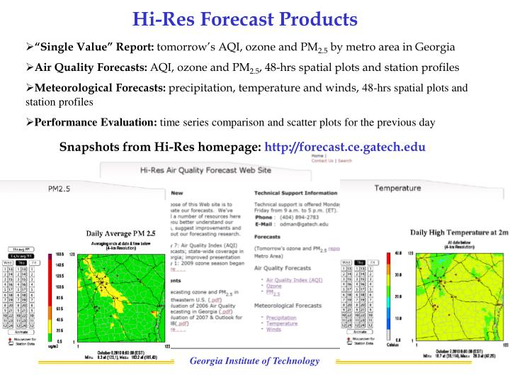 Hi-Res Forecast Products