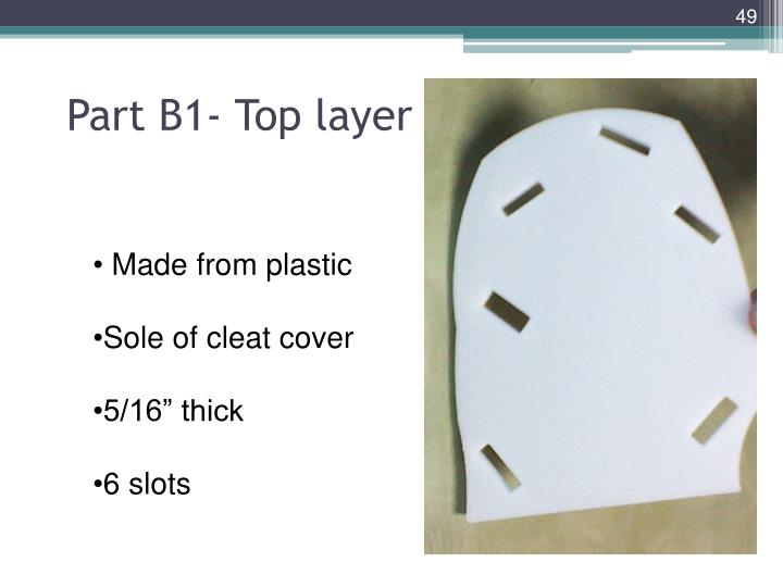 Part B1- Top layer