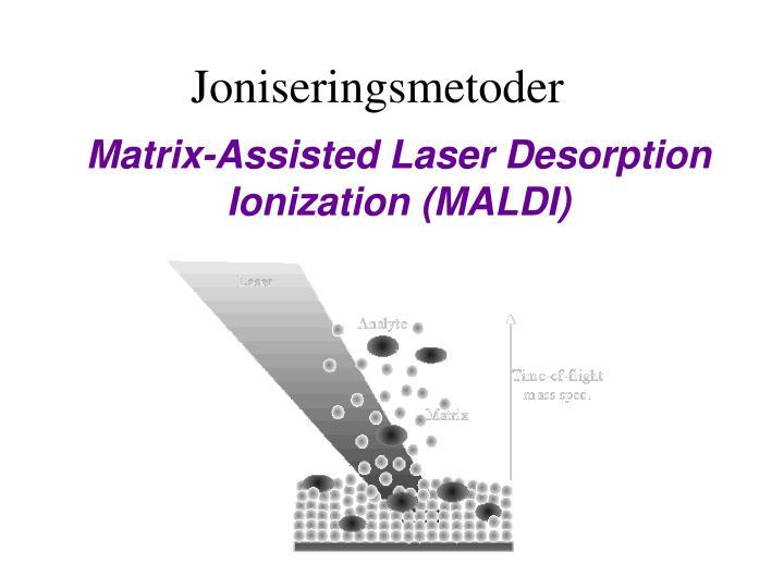Matrix-Assisted Laser Desorption Ionization (MALDI)