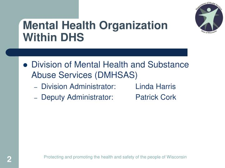 Mental health organization within dhs