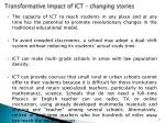 transformative impact of ict changing stories