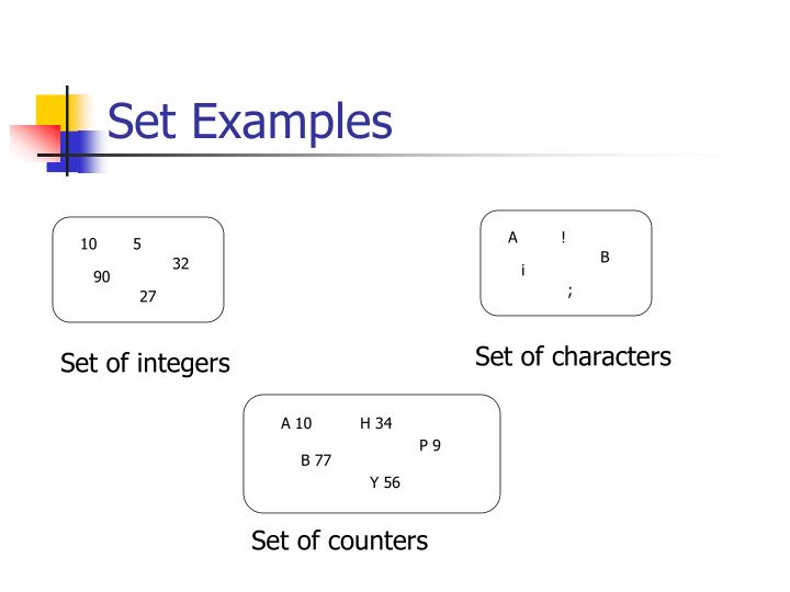 Set examples