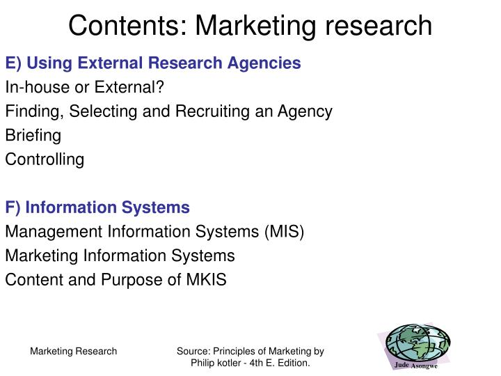 mkis support for the marketing This paper deals with the role of marketing information systems for service quality in ethiopian industries in terms of mkis support for the marketing.