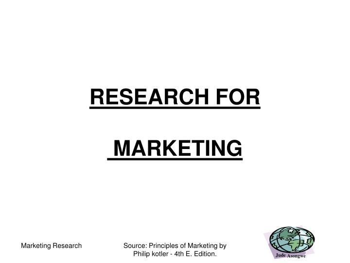 research for marketing n.