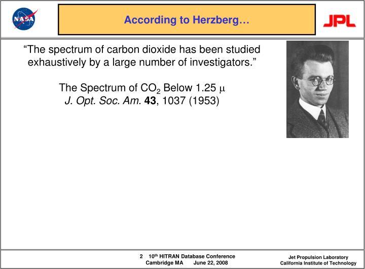 According to herzberg