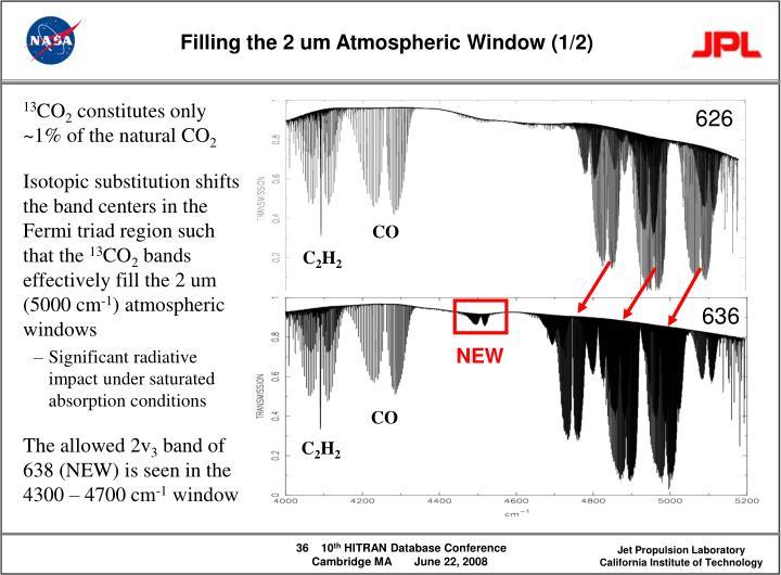 Filling the 2 um Atmospheric Window (1/2)