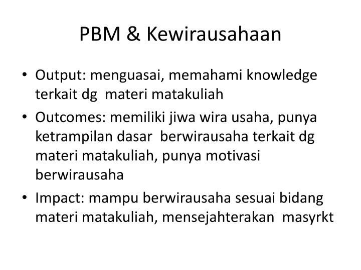 PBM & Kewirausahaan