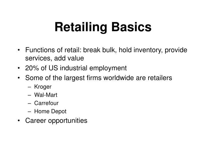 Retailing Basics