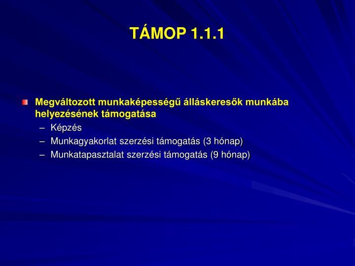TÁMOP 1.1.1