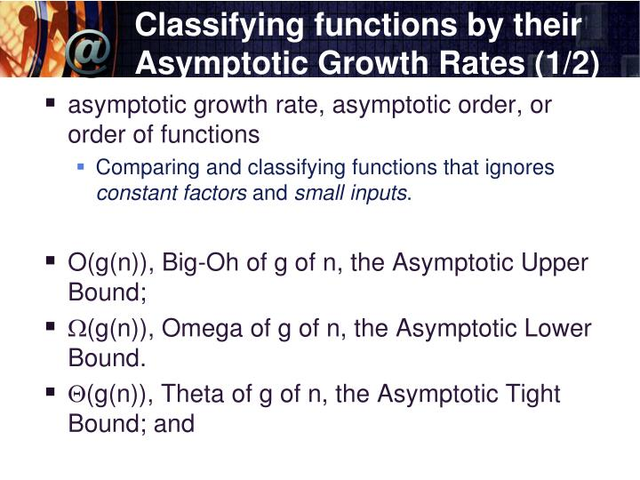 Classifying functions by their