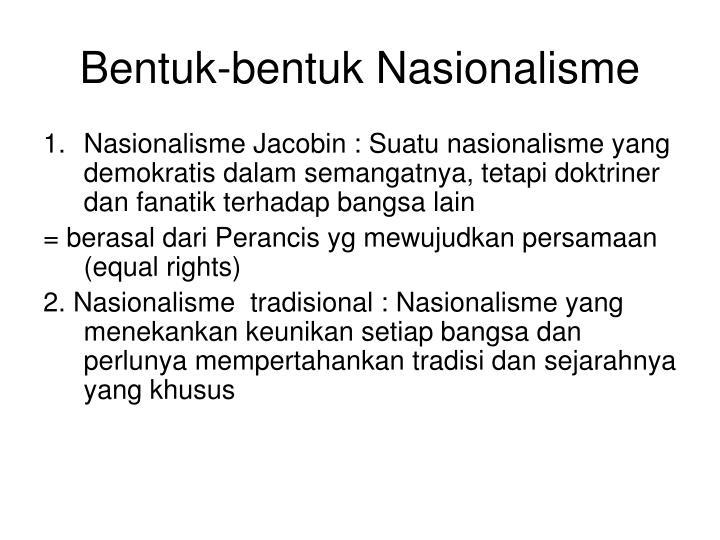 Bentuk-bentuk Nasionalisme