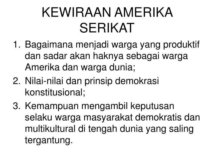 KEWIRAAN AMERIKA SERIKAT