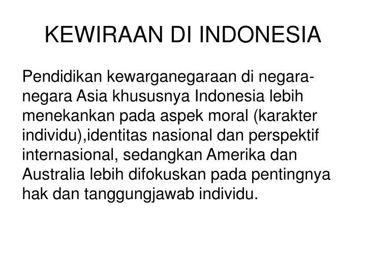 KEWIRAAN DI INDONESIA