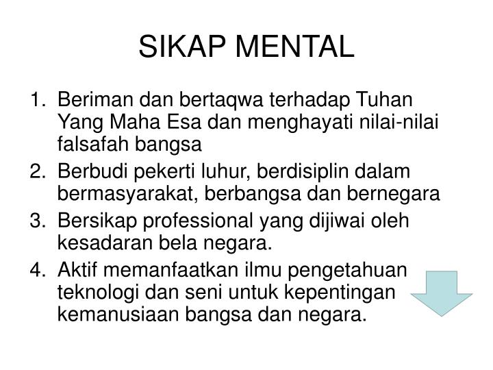 SIKAP MENTAL