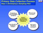 primary data collection process step 3 developing a sampling plan