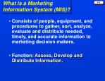 what is a marketing information system mis