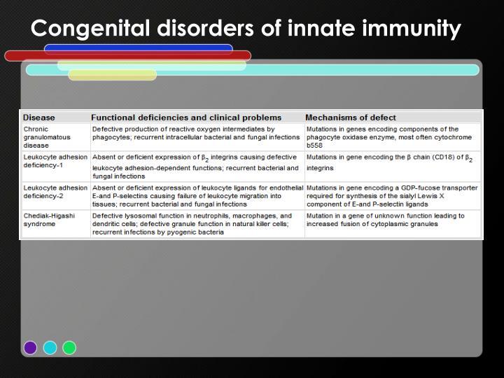 Congenital disorders of innate immunity