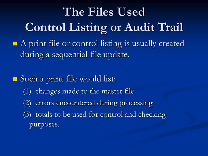 The Files Used